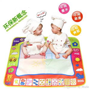 In stock Enlightenment Educational Toys Children Magic Four-color Drawing Water Canvas Baby Waterproof Graffiti Drawing Board 46*29cm Small