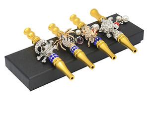Handmade Hookah Head Mouthpiece Smoking Pipes Inlaid Jewelry Diamond Smoking Pipe Mouth Filter Tips