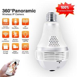 ZGWANG 960p 1080P 360 Security wifi Camera Lamp Panoramic Bulb IP CCTV Video Surveillance Fisheye HD Night Vision Two Way Audio LJ201211