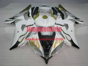 Bodywork blk white yellow YZF R6 2008 2009 2010 2011 2012 2013 2014 2015 2016 Injection Plastic ABS Fairings Kit For Yamaha YZF-R6 body kits