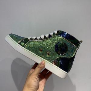 Red Bottom Paris Men Rivets Rock Skeakers Woots Munior Spikes платформа Orlato Boots Luxurys дизайнеры обувь