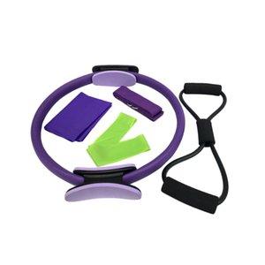 Устойчивые полосы сопротивления 1 комплект / 5 шт. Аксессуары для йоги Прочный кольцевой съемник Спортивное снабжение Полотенце для спортивных упражнений