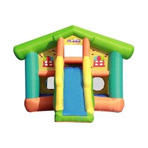 Inflável Playground Playground Bouncy Castelo Tramptoline Garden Supplie Outdoor Play Cerca Deslizante Escalada Paradise Paradise Playgrounds Slides