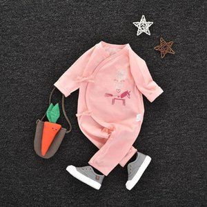 Baby Jumpsuit Spring and Autumn Winter Cotton Autumn and Winter Newborn Baby Childrens Romper Men and Women Wear Four Seasons