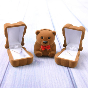 Jewelry Boxes Bear Jewelry Packaging Boxes Wedding Supplies Proposal Ring Box Valentines Day Gifts Packaging Box XD24395
