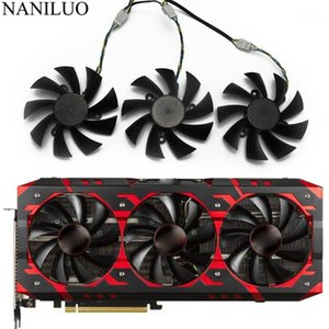 PLA09215B12H Red Devil RX VEGA56 VEGA64 For DATALAND PowerColor Radeon RX Vega 64 56 Red Cooler Cooling Fan1