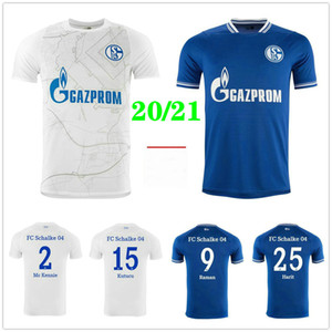 2020 2021 FC Schalke 04 Футбольные трикотажки 7 UTH 10 BUATELED 18 CALIGIURI 25 HARIT SERDAR BURGSTALLER Custom Home Отель 20 21 футбольная рубашка