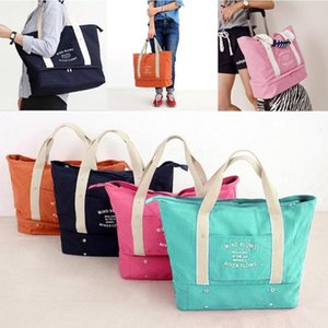 Korean Travel Bag Shoes and Socks Underwear Canvas Bag Mummy Shoulder Fashion Casual Handbag