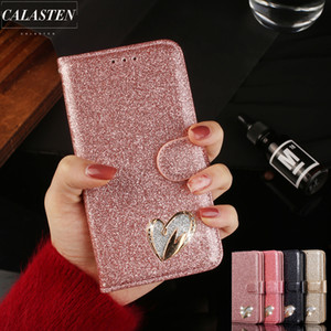 3D Love Heart Bling Sparkle Case For iPhone 12 Mini 11 Pro Max X XS XR SE2020 6 6s Plus 7 8 5 5S Leather Wallet Flip Cover Coque