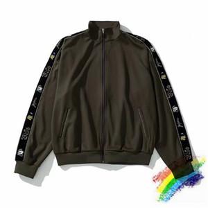 2021ss exército jaqueta verde homens mulheres 1 melhor qualidade zip ouro casaco esportivo bordado