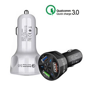 QC 3.0 3 USB Car Charger Quick Charge 3.0 3-Ports Fast Charger for Car Charging Adapter for Samsung Huawei Xiaomi