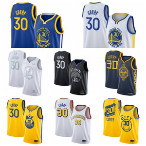 2019-20 nouveau StephenCurry30 # GoldenEtatGuerriersSwingman Basketball Jerseys Royal Icon Edition