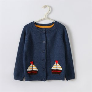 Children Sweater Autumn Winter Toddler Cardigan Coat Kids Cartoon Cashmere Knitted Sweaters For Baby Boys Girls 2-6 Year Jacket F1203