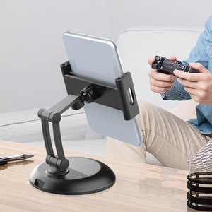 Universal Tablet Holder Stand for iPad Pro 12.9 Air Mini Smartphone Phone 360 Degree Rotation Live Streaming Youtube Shoot Video Desk Mount