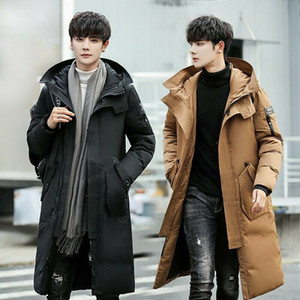 Men's Winter Duck Down Hooded Coat Overcoat Parka Outwear Jacket Casual Quilted-AD666 Y1120