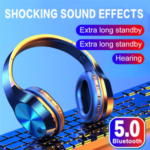 T5 Wireless Sports Bluetooth 5.0 Headphones Foldable Head-mounted Stereo HIFI Noise Cancelling Earphone Headset with mic
