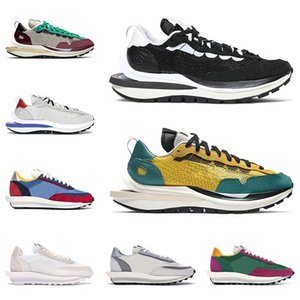 2021 sacai VaporWaffle LD Waffle erkekler kadınlar koşu ayakkabıları eğitmenler Yelken Oyunu Kraliyet Siyah Beyaz Kötü Kırmızı Tur Sarı erkek açık spor ayakkabı