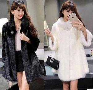European and American fur jackets new fox raccoon fur imitation fur stitching vest women's mid-length round neck vest jacket