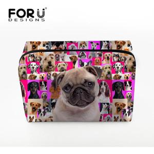 Forudesigns Sıcak Yeni Varış Büyük Kapasiteli Kozmetik Çantası Sevimli Köpekler Saklama Çantası Seyahat Makyaj Drop Shipping