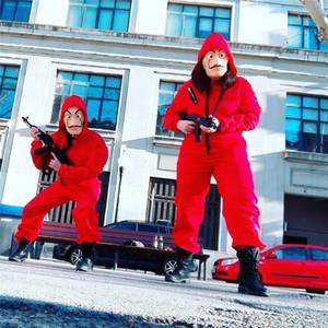 La Casa De Papel Salvador Dali Red Costume Jumpsuits Cosplay Dali Suit Money Heist Hot Movie