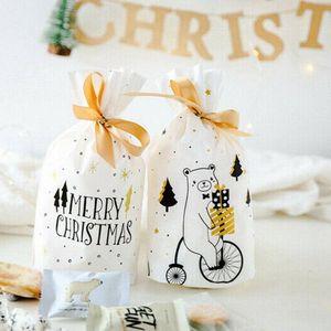 Christmas Sacks Reusable Drawstring Wrap Present Gift Storage Bags Pouch Christmas Holiday Party