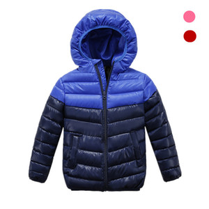 new Spring Children Coat Autumn Kids Jacket Boys Outerwear stripe Down Jacket for Boys Warm Hooded for 3-10 years Children 201118
