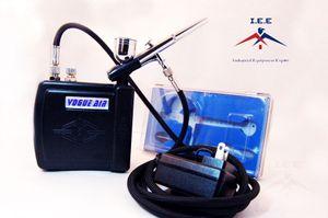 Nuovo kit di aerografo Compressore per nail art Tattoo Dual Action Spray Spray Air Pisent Set