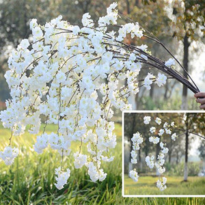 20pcs Artificial Cherry Blossom Branch Flower Wall Hanging Sakura 150cm for Wedding Centerpieces Decorative Flowers