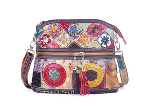 New style leather handbags European and American fashion cross-border hot-selling leather messenger bag snake pattern color contrast single