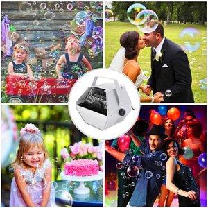 Descuento 30W AC 110V Mini Mini Bubble Maker Machine Soplador automático para la boda / Barra / Party / Stage Show Silver