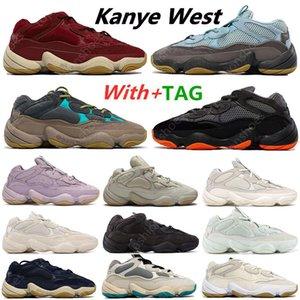 Yeni Klasik Kanye 500 Lavanta Enflam Yumuşak Vizyon Taş Koşu Ayakkabıları Çöl Sıçan Kemik Beyaz 500 S Yardımcı Programı Siyah Erkek Spor Eğitmenler Sneakers