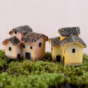 NEW Hot Sale 1PC Cute Resin Crafts House Fairy Garden Miniatures Gnome Micro Landscape Decor Bonsai For Home Decor Random Color