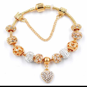 2020 trend new trend ladies beaded bracelet snake bone chain alloy large hole beaded bracelet