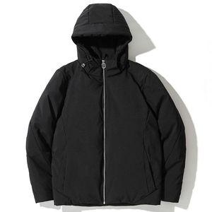 Men's Winter 2020 New Warm Men Down Jacket Fashion High Quality Windproof Slim Fit ComfortableBlue Black Hooded Down Jacket