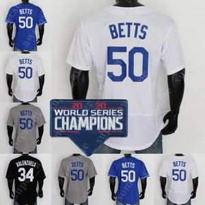 2020 champions de la série World Series Jersey Mookie Betts Cody Bellinger Corey Segarder Julio Urias Enrique Hernandez Clayton Kershaw Victor Gonzalez