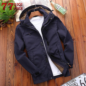 Mens Winter Coat New jacket mens hooded jacket windbreaker waterproof mesh lining casual tactical clothing chaqueta hombre