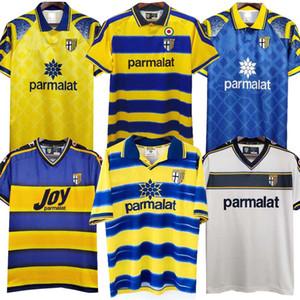 95 97 98 99 2000 Parma Retro Soccer Jersey Home 98 99 00 Fuser Baggio Crespo Chemise de football de Cannavaro Thuram Futbol Camisa