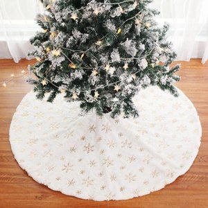 1pcs lot Christmas Tree Skirt Party Decorations With Snowflower Sequins Plush Dress More Size For Festival Dec