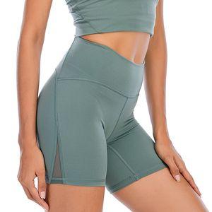 LU Donne Leggings Yoga Outfit Coscia Designer Designer Womens Lulu Workout Gym Indossare Solido Sport Solidi Elastico Fitness Lady Allinea SHR Breve 4 Pantaloni 2021