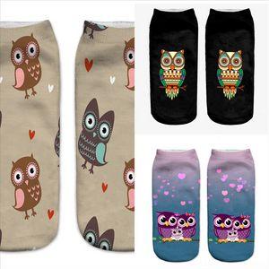 VHYQ6 Komik Çorap KadınBamboo Fiber Ultra-İnce Elastik İpeksi X Çorap Metal Hız Baykuş Run Kısa İpek Çorap Hayvan Baskı Calcetines Çorap