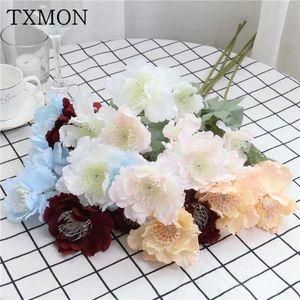 Artificial flowers 60cm 6 heads snow peony 10 color simulation silk flower party home wedding decoration flower arrangement