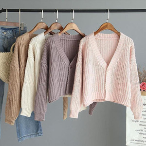 Fashion Knitting Sweater Blouse Lazy Style Casual Winter Ladies Loose Bottom Tops Female Women Long Sleeve Shirt Blusas Pullover
