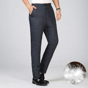 ICPANS Mens calças quentes para o inverno masculino Waterproof Thick Duck calças para baixo Homens Cold-prova Calças Homens Jogger Plus Size XXXL 4XL
