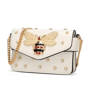 New women messenger bags small chain crossbody bags female shoulder bag pearl handbag 2018 Red White black1