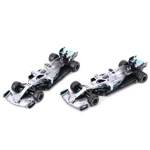 Bburago 01:43 2019 W10 # 77 # 44 # 6 # W07 44 de competência F1 Fórmula carro estático Simulação Diecast liga modelo de carro LJ200930