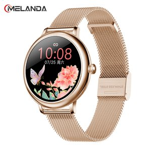 "2020 Fashion Smart Watch Women 1.08""HD Custom Wallpaper Heart Rate BP Monitor Female Function Smartwatch For iOS Android"
