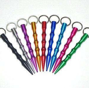 AlumiNum Самооборона Безопасность Женщины Спайк Stick KeyChain Ключевые Цепка Металл Оптом Цвет поставляется случайным Бесплатная Доставка