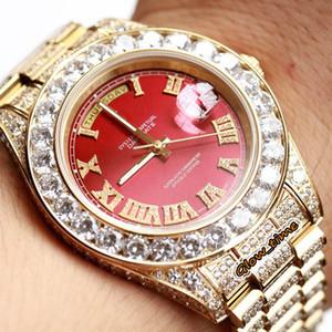 최고의 버전 다이아몬드 인레이 케이스 M118388 M228345 M118348 자동 망 시계 사파이어 로마 디지털 다이얼 큰 다이아몬드 베젤 아이스 시계