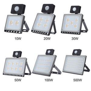 Outdoor Lighting 10W 20W 30W 50W 100W LED Spotlight PIR Motion Sensor Aluminum Ultra thin Led reflector AC220V Led Floodlight