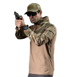 Camouflage Army Men US RU Soldiers Combat Tactical Force Long Sleeve Outdoor Clothing S-4XL